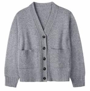Wyse - Amelia Pocket Cardigan Grey - S/M