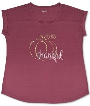 Style&Co. Style & Co Thankful Graphic T-Shirt, Created for Macy's