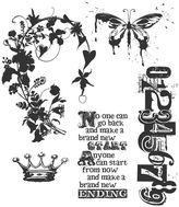TIM HOLTZ Tim Holtz Cling Rubber Stamp Set, Fairytale Frenzy