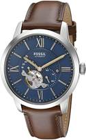 Fossil Men's ME3110 Townsman Automatic Leather Watch
