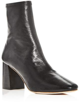 Loeffler Randall Woman's Elise Square Toe Block Heel Booties