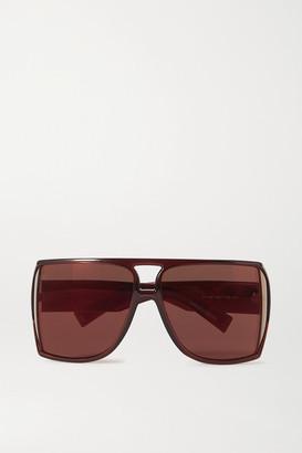 Givenchy Oversized D-frame Acetate Sunglasses - Brick