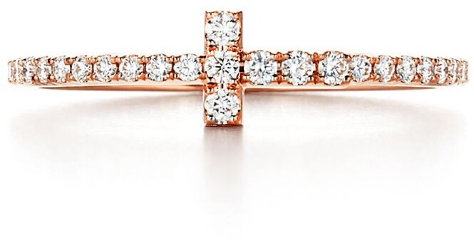 Tiffany & Co. T diamond wire band ring in 18k rose gold
