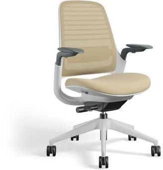Steelcase Series 1 Ergonomic Mesh Task Chair Frame Color: Seagull, Upholstery Color: Malt