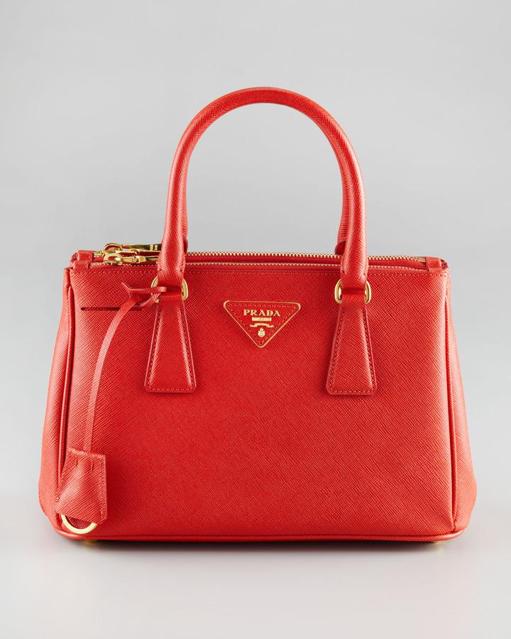 Prada Saffiano Lux Tote Bag, Mini