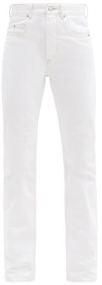 Etoile Isabel Marant Belvira Logo-embroidered Bootcut Jeans - White