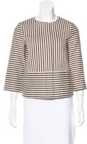 Tory Burch Striped Zip-Up Jacket