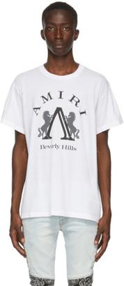Amiri White Beverly Hills T-Shirt