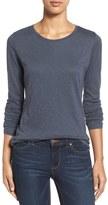 Caslon Long Sleeve Slub Knit Tee (Regular & Petite)