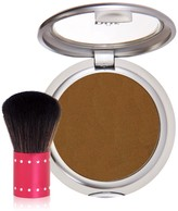 PUR Cosmetics 4-in-1 Pressed Mineral Makeup Foundation SPF 15 with Kabuki Brush - Deep