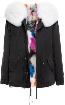 Mr & Mrs Italy Jazzy Mini Parka With Multicolor Fur Lining