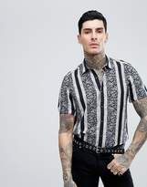 Asos Design Regular Fit Vintage Stripe Shirt