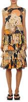 Dries Van Noten Women's Dines Tiered Silk Drop-Waist Dress
