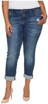 KUT from the Kloth Plus Size Catherine Boyfriend in Doubtless/Medium Base Wash Women's Jeans