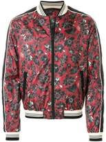 Just Cavalli floral printed bomber jacket