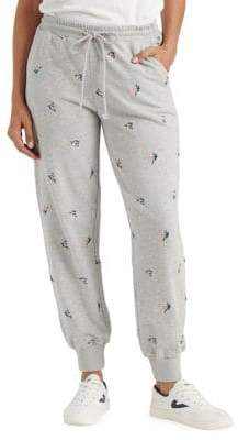 Lucky Brand Embroidered Heathered Joggers