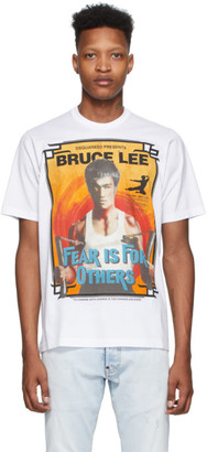 DSQUARED2 White Bruce Lee Slouch Fit T-Shirt
