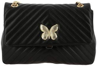 Twin-Set TWIN SET Shoulder Bag Shoulder Bag In Quilted Leather With Rhinestone Butterfly