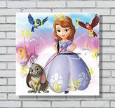 ART WALL CLOCK FOR DISNEY FANS Sofia the First 11.8'' Handmade Art Wall Clock - Get unique décor for home or office – Best gift ideas for kids, friends, parents and your soul mates - made of plastic