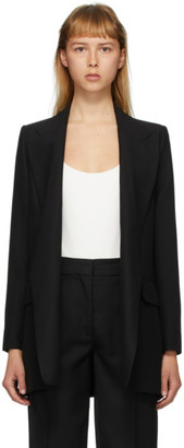 Ami Alexandre Mattiussi Black Buttonless Long Blazer