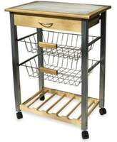 Organize It All Rolling Kitchen Cart with Two Baskets