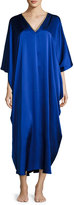 Josie Natori Beaded Silk Caftan, Royal