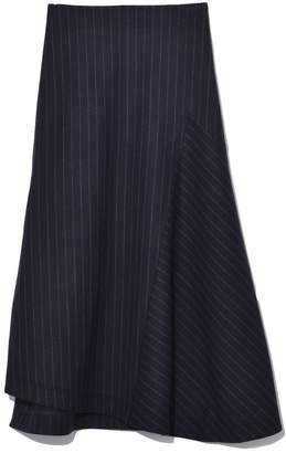 Odeeh A-Line Suiting Skirt in Black/Blue