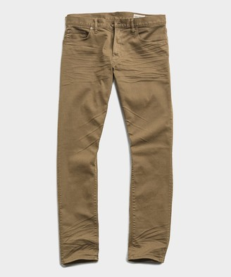 Todd Snyder Slim Fit 5-Pocket Garment-Dyed Stretch Twill in Khaki