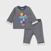 Paul Smith Baby Boys' Grey 'Mini' Print Cotton Loungewear Set