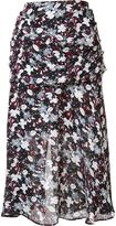 Veronica Beard floral print A-line skirt - women - Silk - 6