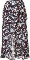 Veronica Beard floral print A-line skirt