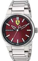 Ferrari Scuderia Men's Quartz Stainless Steel Casual Watch, Color:Silver-Toned (Model: 830357)
