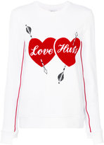 Zoe Karssen Love Hurts sweatshirt - women - Cotton/Polyester - S