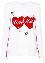 Zoe Karssen Love Hurts sweatshirt - women - Cotton/Polyester - XS