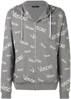 Versace Vintage logo print hoodie
