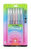 Sakura 37904 6-Piece Gelly Roll Assorted Colors Stardust Meteor Pen Set