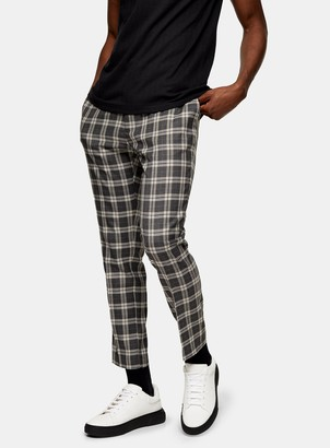 Topman Heritage Check Jogger Trousers
