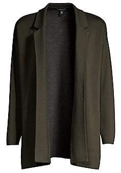 Eileen Fisher Women's Merino Wool-Blend Cardigan Jacket