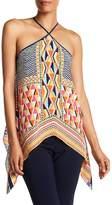 Trina Turk Tully Print Silk Halter Top