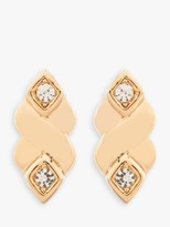 Susan Caplan Vintage Nina Ricci 22ct Gold Plated Swarovski Crystal Clip-On Drop Earrings, Gold