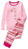 Crazy 8 Candy Cane 2-Piece Pajama Set