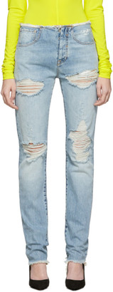 Unravel Blue Vintage Spray Jeans