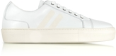 Neil Barrett White/Off White Nappa Leather Skateboard Sneakers