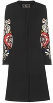 Etro Embroidered Wool-blend Coat