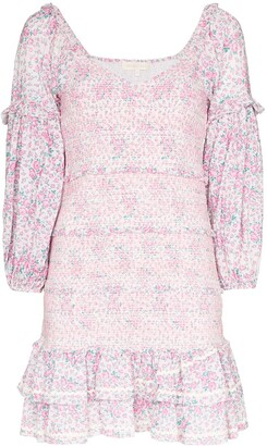 LoveShackFancy Ensley floral-print mini dress