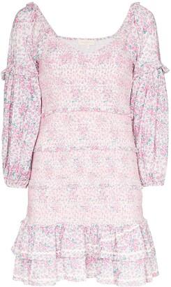 LoveShackFancy Floral Print Ruffle Dress