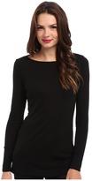 Michael Stars Slub Long Sleeves Boatneck Tunic Women's Long Sleeve Pullover