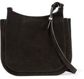 The Row Hunting 11 Suede Shoulder Bag - Black