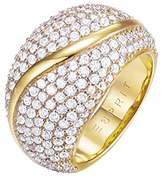 Esprit Glamour Women's Ring-It ATROPIA GOLD Partially GOLD-Plated with Cubic Zirconia Clear ESRG02844 gold