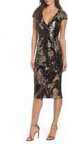Dress the Population Women's Allison Sequin Velvet Body-Con Dress
